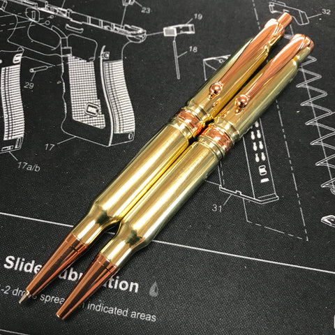 308 Brass Bullet Pen and Pencil Set