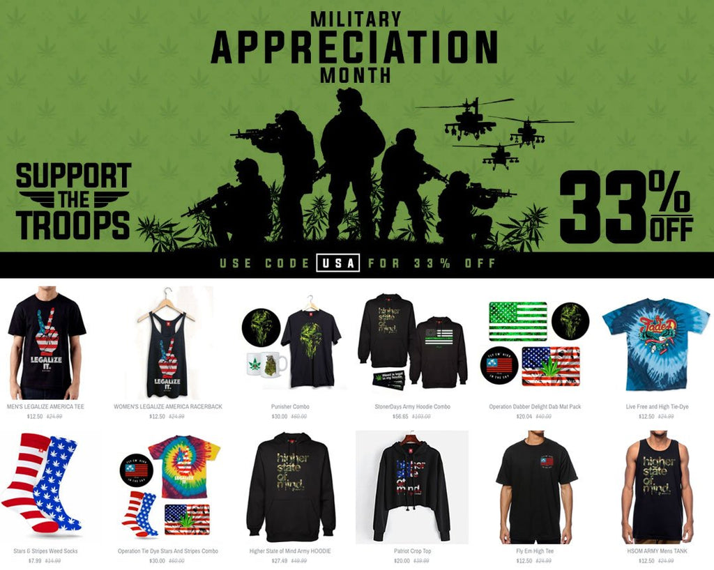 Military Cannabis Clothing: Operation Support The Troops