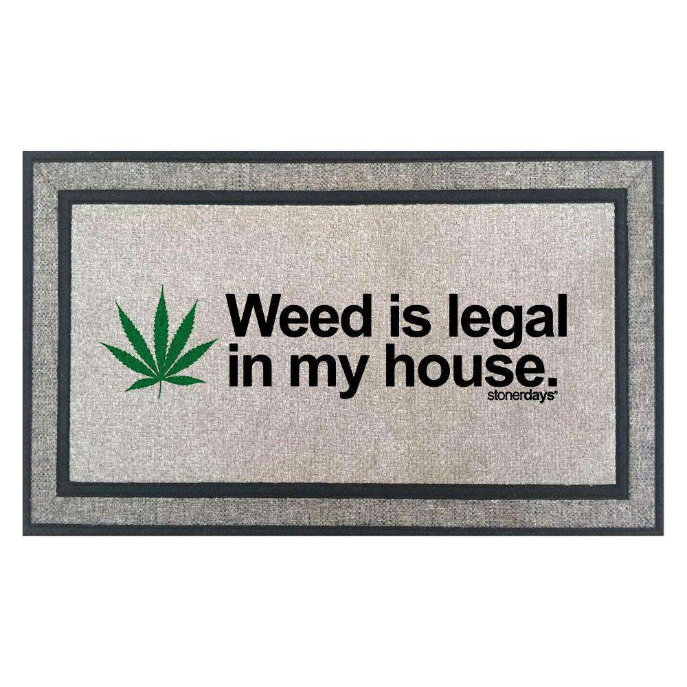 Introducing The Weed is Legal In My House Welcome Mat!