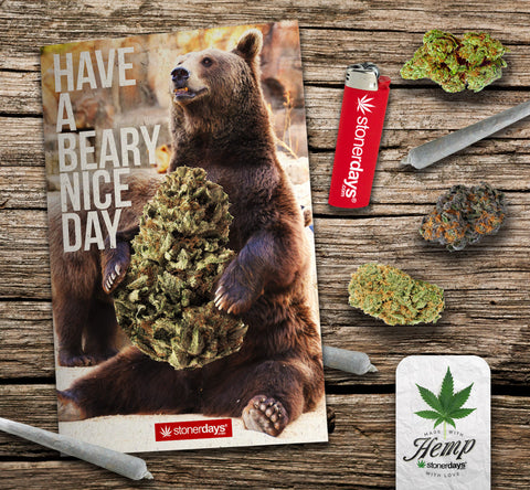 hemp card bear greeting card