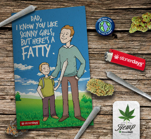 dad father hemp greeting card