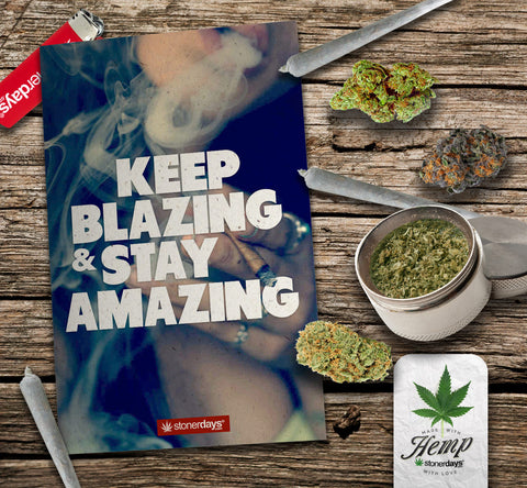 blazing amazing hemp greeting card
