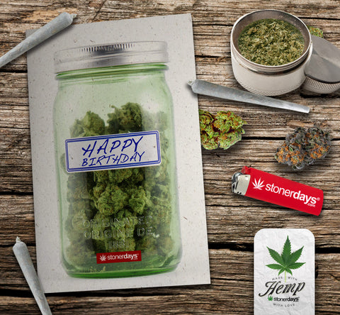 happy birthday hemp card