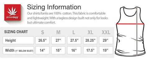 womes racerback size chart