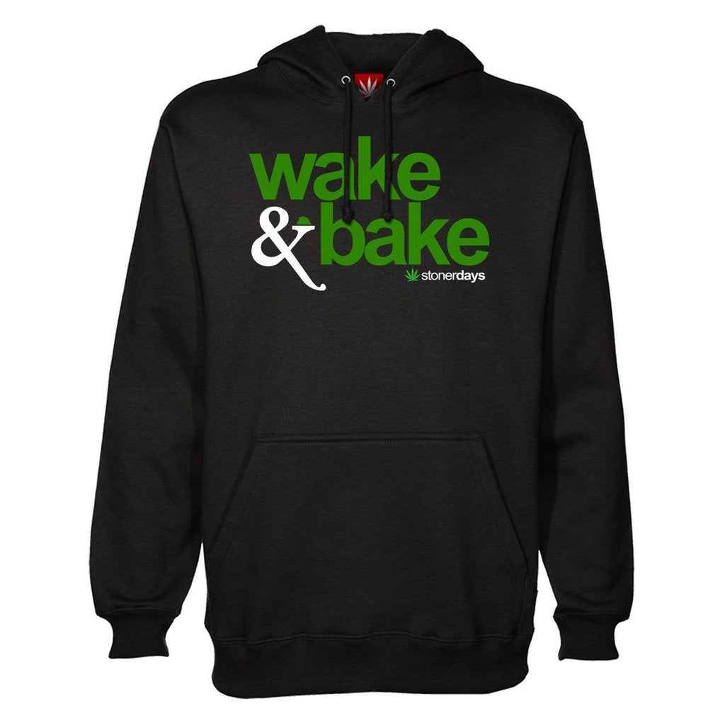 Wake and Baking in Marijuana Hoodie StonerDays Presents