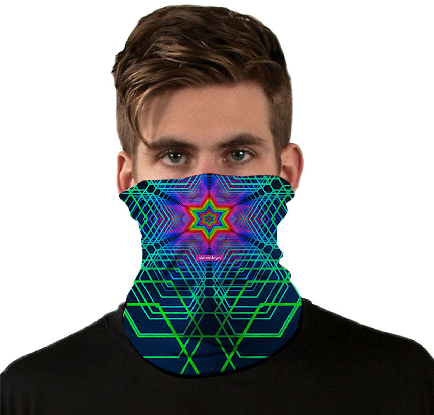 3D Geometry Neck Gaiter