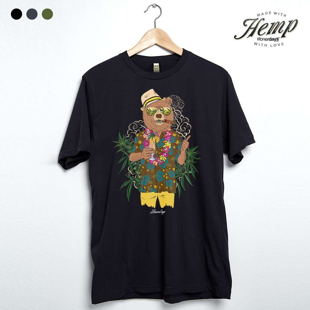 bear_on_vacation_hemp_tee