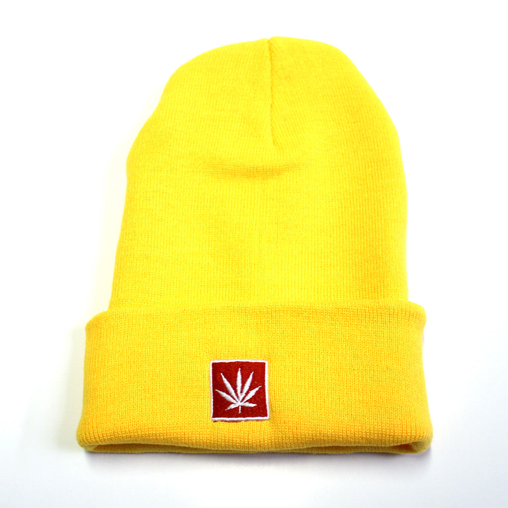 "STONERDAYS 12"" KNIT YELLOW BEANIE"