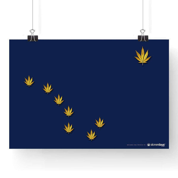 "ALASKA STATE WEED CANNABIS FLAG POSTER 13"" x 19"""