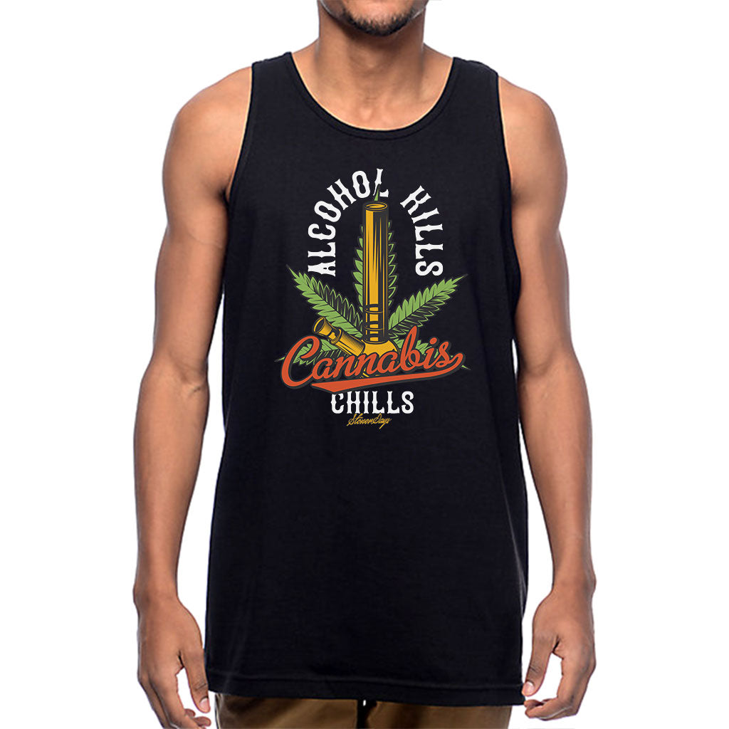 Men's Alcohol Kills Cannabis Chills Tank