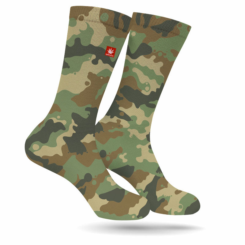 Troop Salute Cannabis Socks