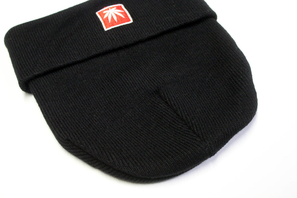 "STONERDAYS 12"" KNIT BLACK BEANIE"