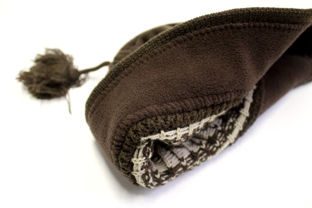 Waterman Brown/Khaki Tassel Beanie