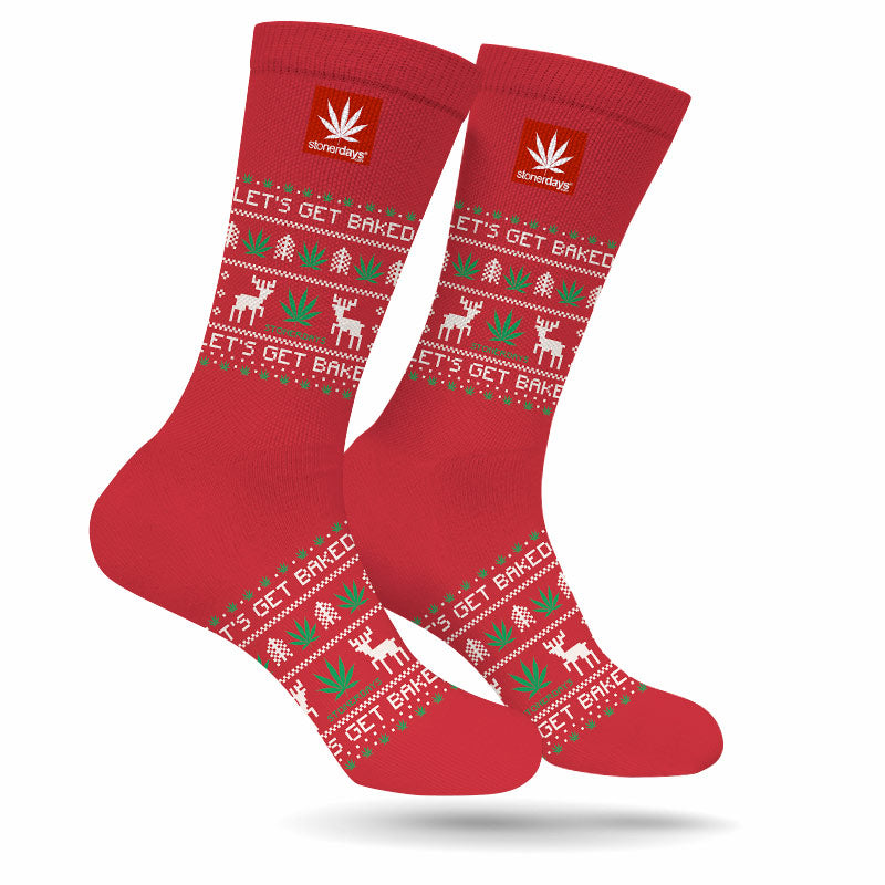 LET'S GET BAKED UGLY CHRISTMAS SOCKS
