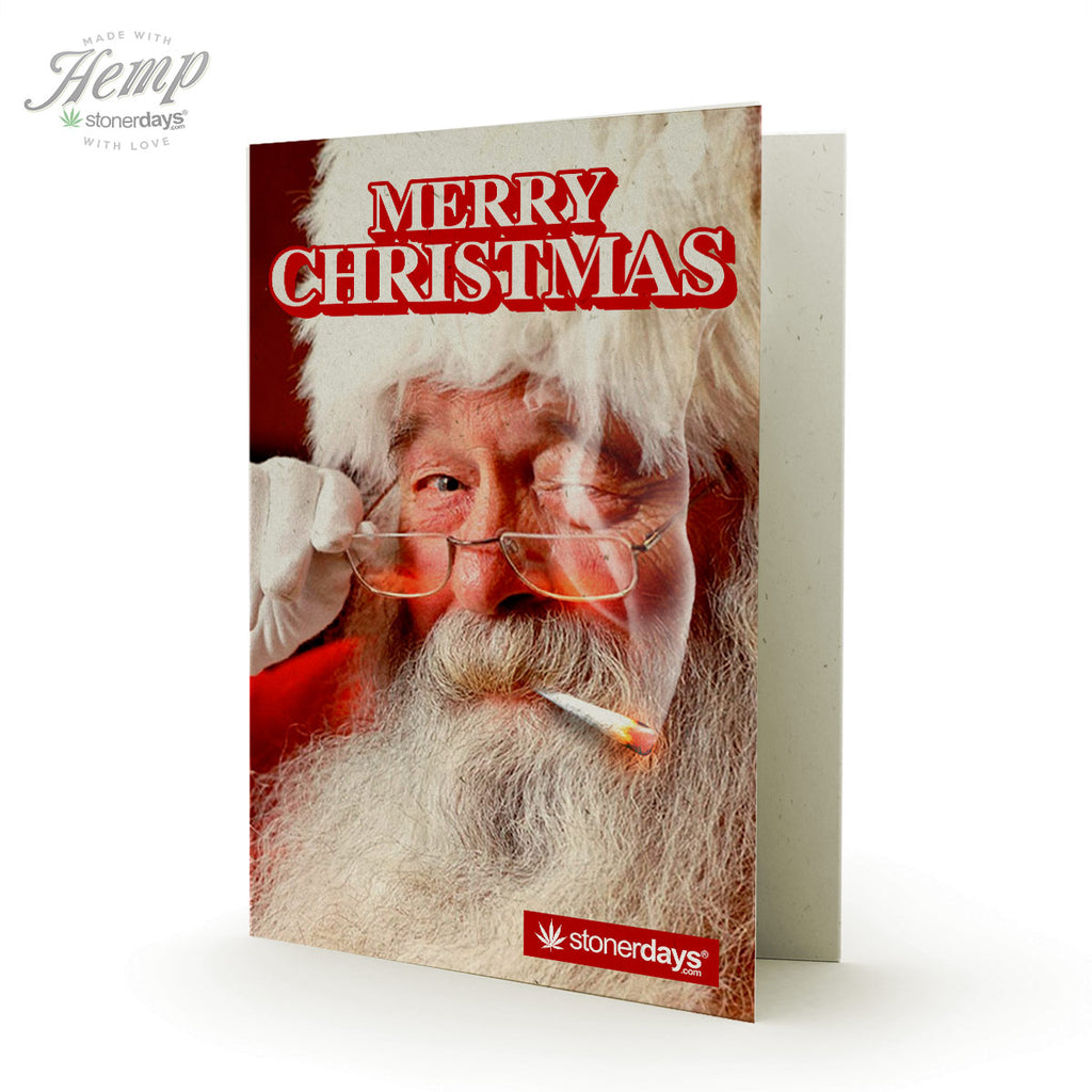 MERRY CHRISTMAS FROM SANTA HEMP CARD