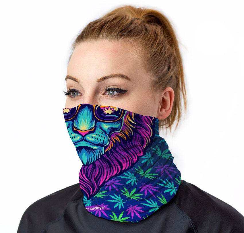 Cool Cat Lion Neck Gaiter