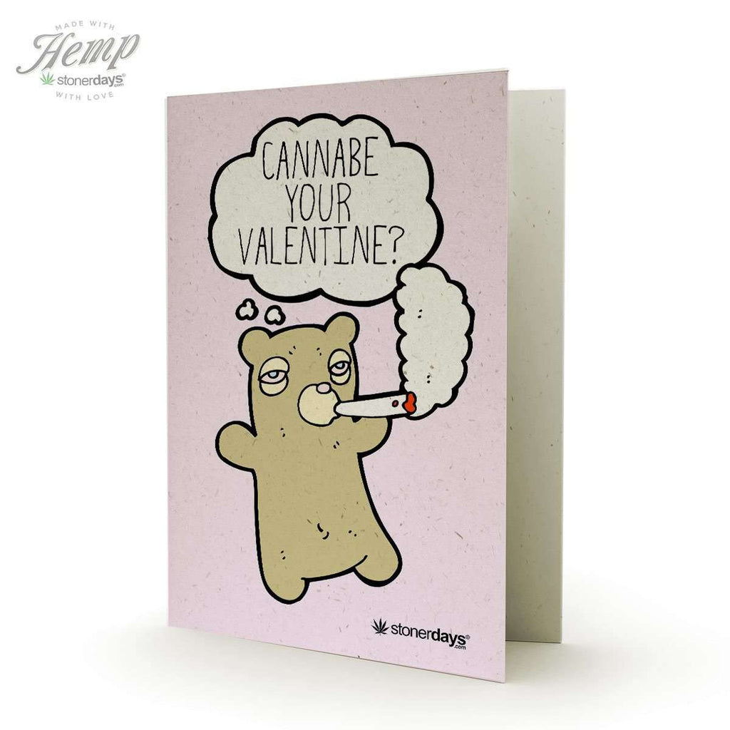 Cannabe Your Valentine Hemp Valentine's Day Card