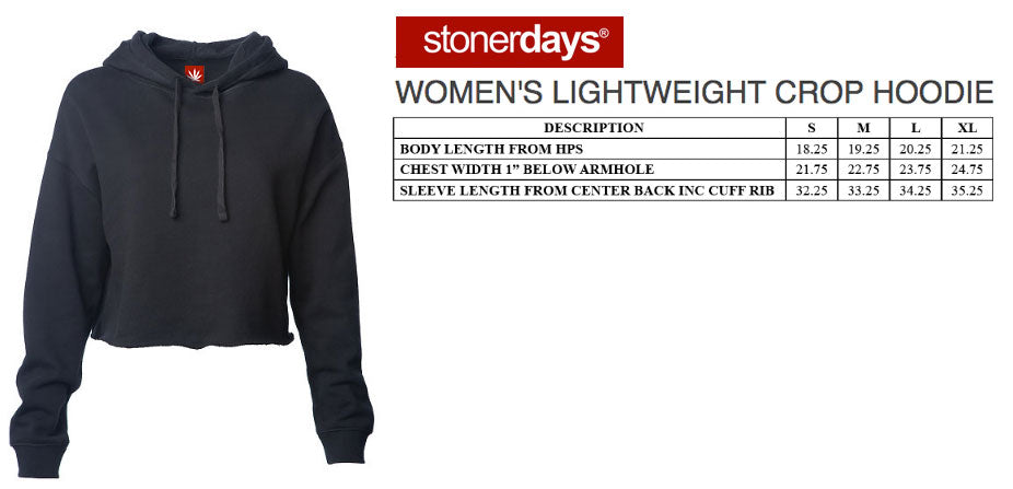 Support Local Dispensaries Crop Top Women's Hoodie