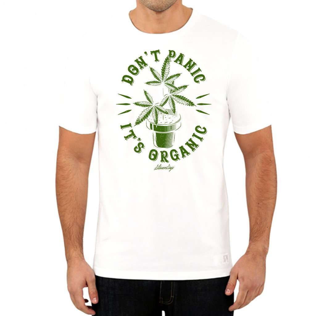 Men's Don't Panic Plant Tee White