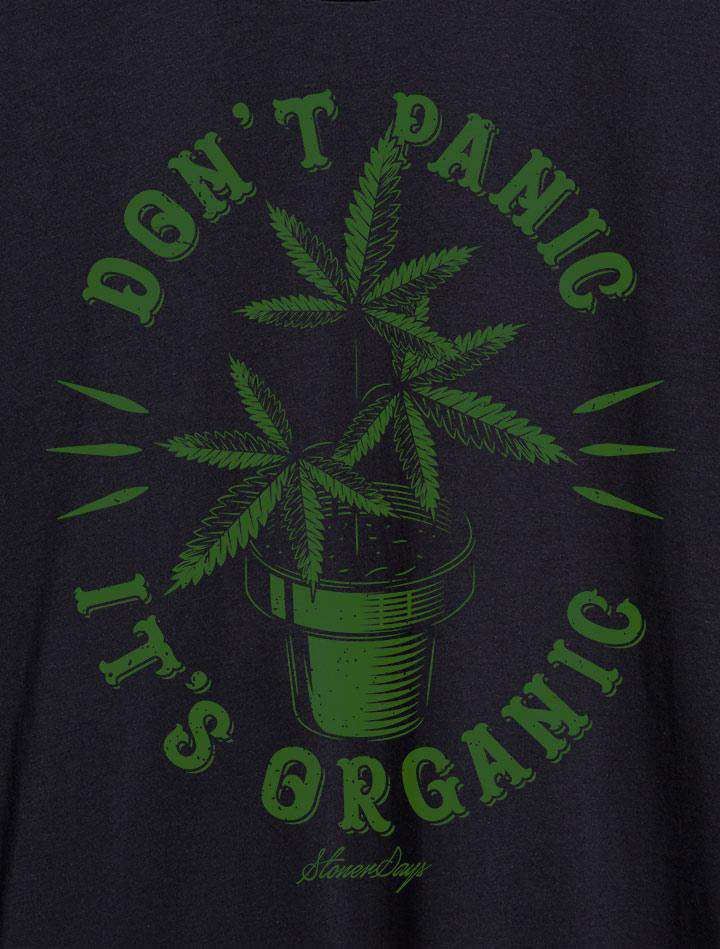 Mens Don't Panic Plant Tank Top