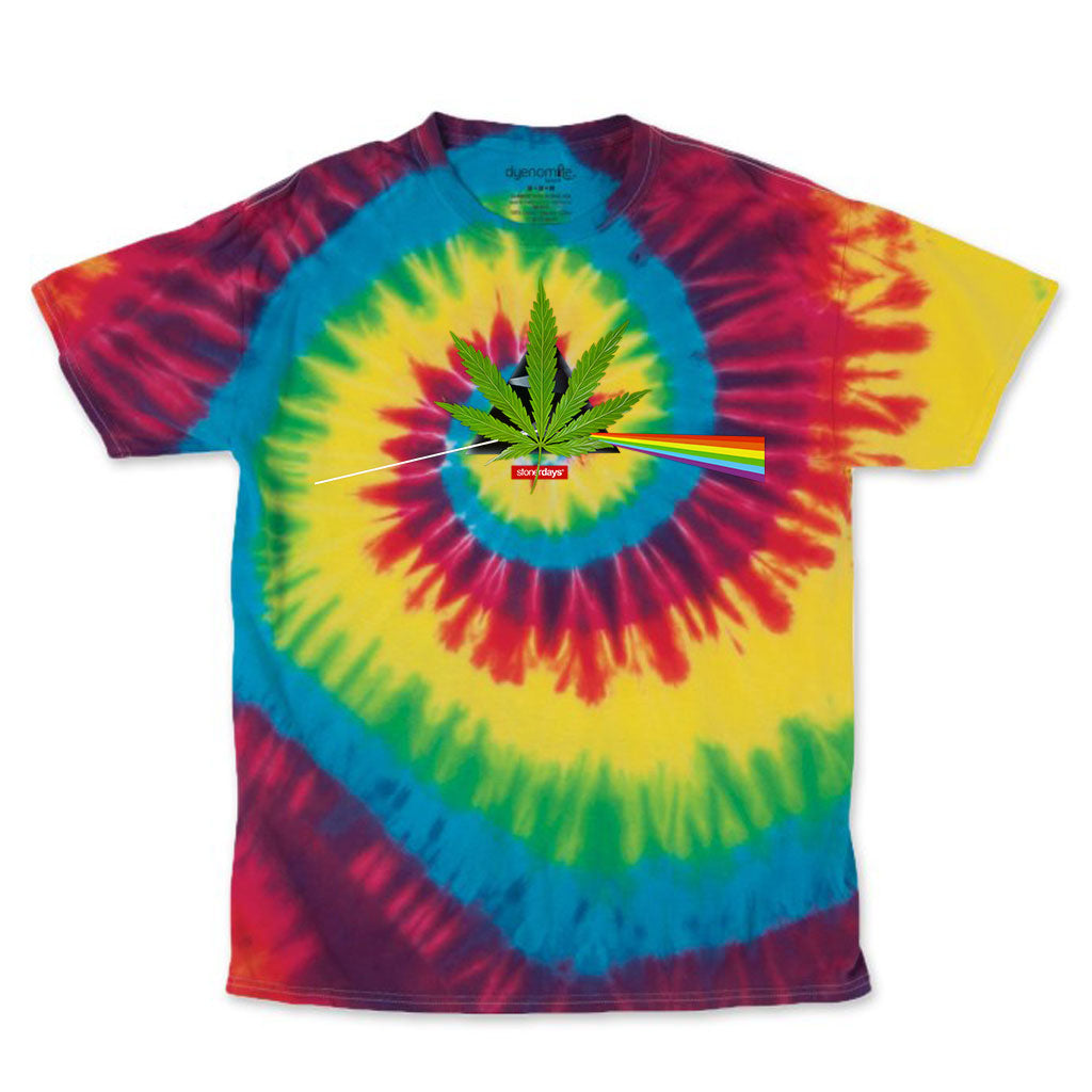 DANK SIDE OF THE MOON MEN'S RAINBOW TIE DYE TEE
