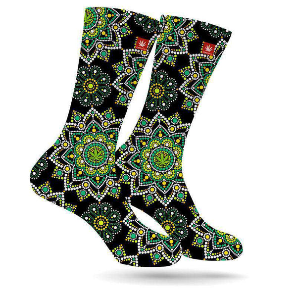 Emerald Green Marijuana Socks