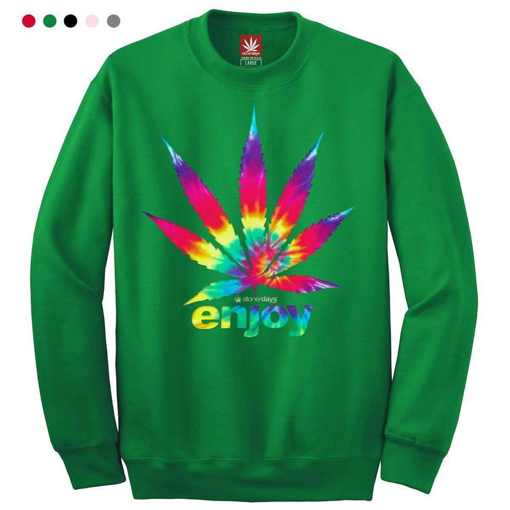 ENJOY TIE DYE CREWNECK SWEATSHIRT