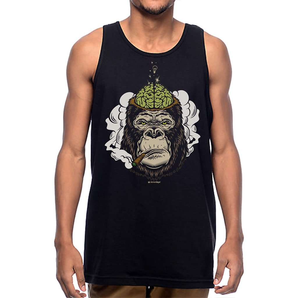 Mens Enlightened Gorilla Tank Top