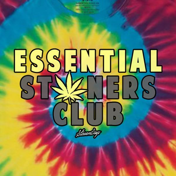 Essential Stoners Club Rainbow Tie Dye Tee