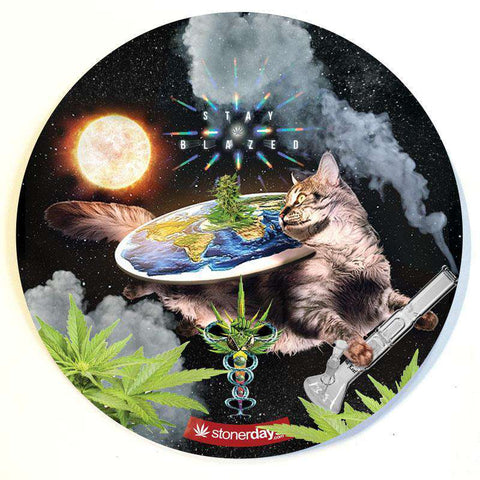 FLAT EARTH KITTY DAB MAT