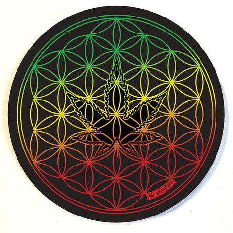 FLOWER OF LIFE RASTA DAB MATS