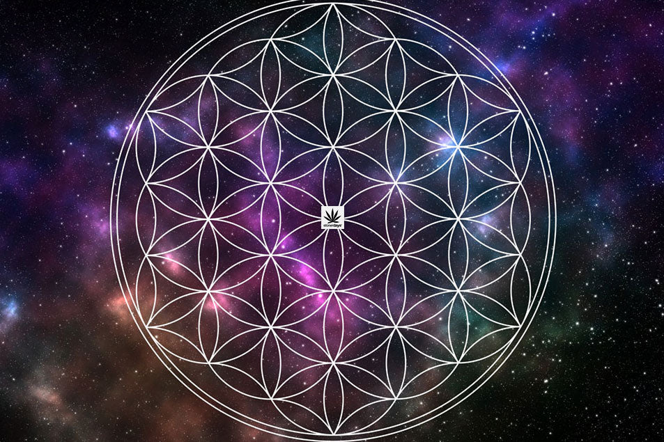 Flower Of Life Space Dab Mat