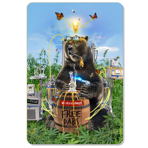 FREE DABS BEAR HEMP CARDS
