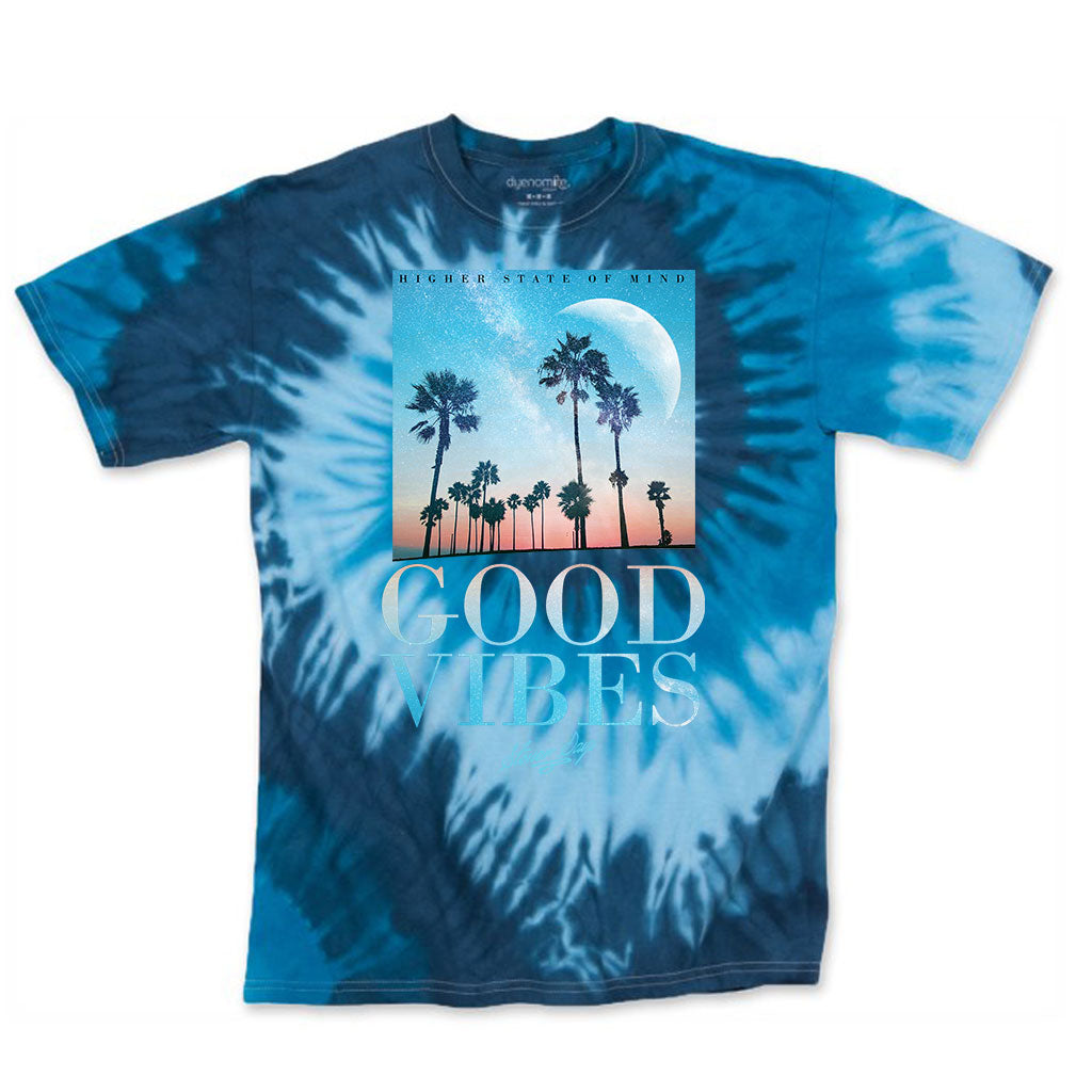 Good Vibes Throwback Blue Tie Dye