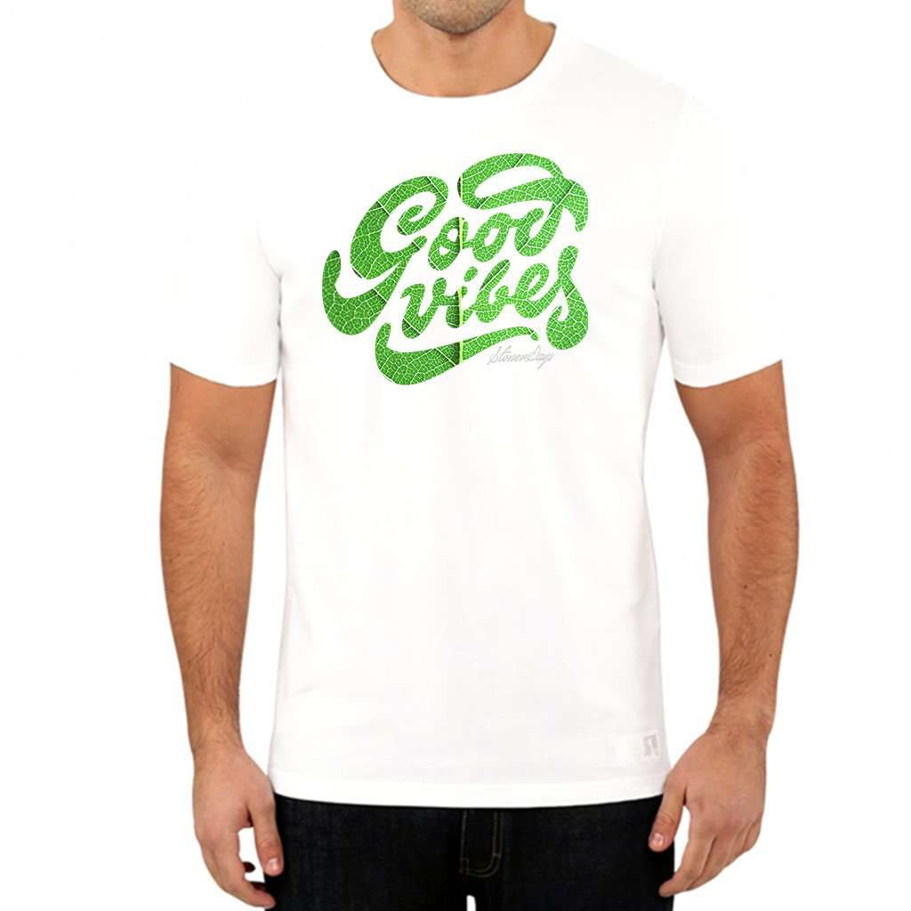Men's Groovy Vibes Tee White