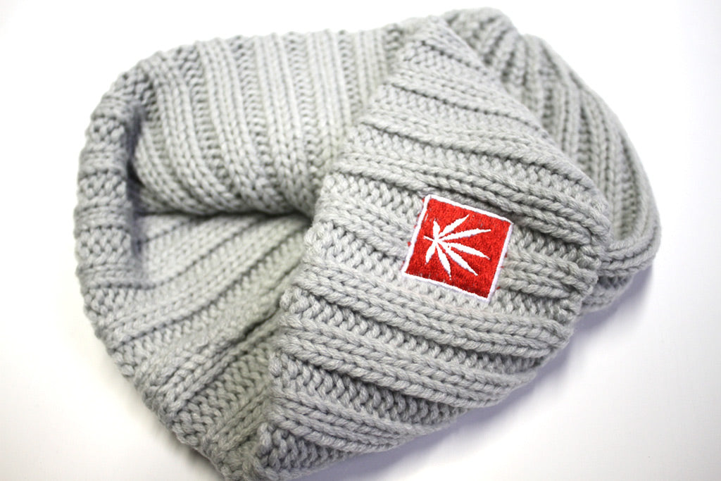 STONERDAYS GREY KNIT BEANIE