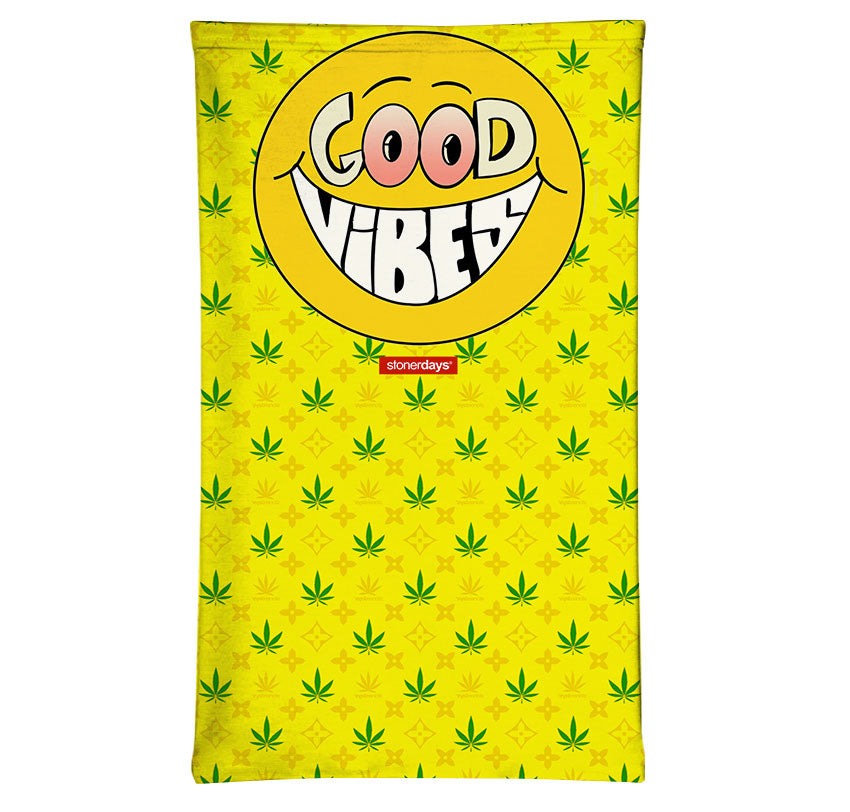 Happy Face Good Vibes Neck Gaiter