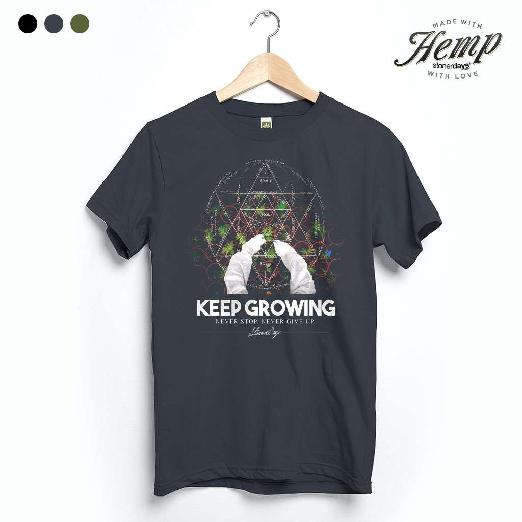 Keep Growing Sacred Geometry Hemp Tee