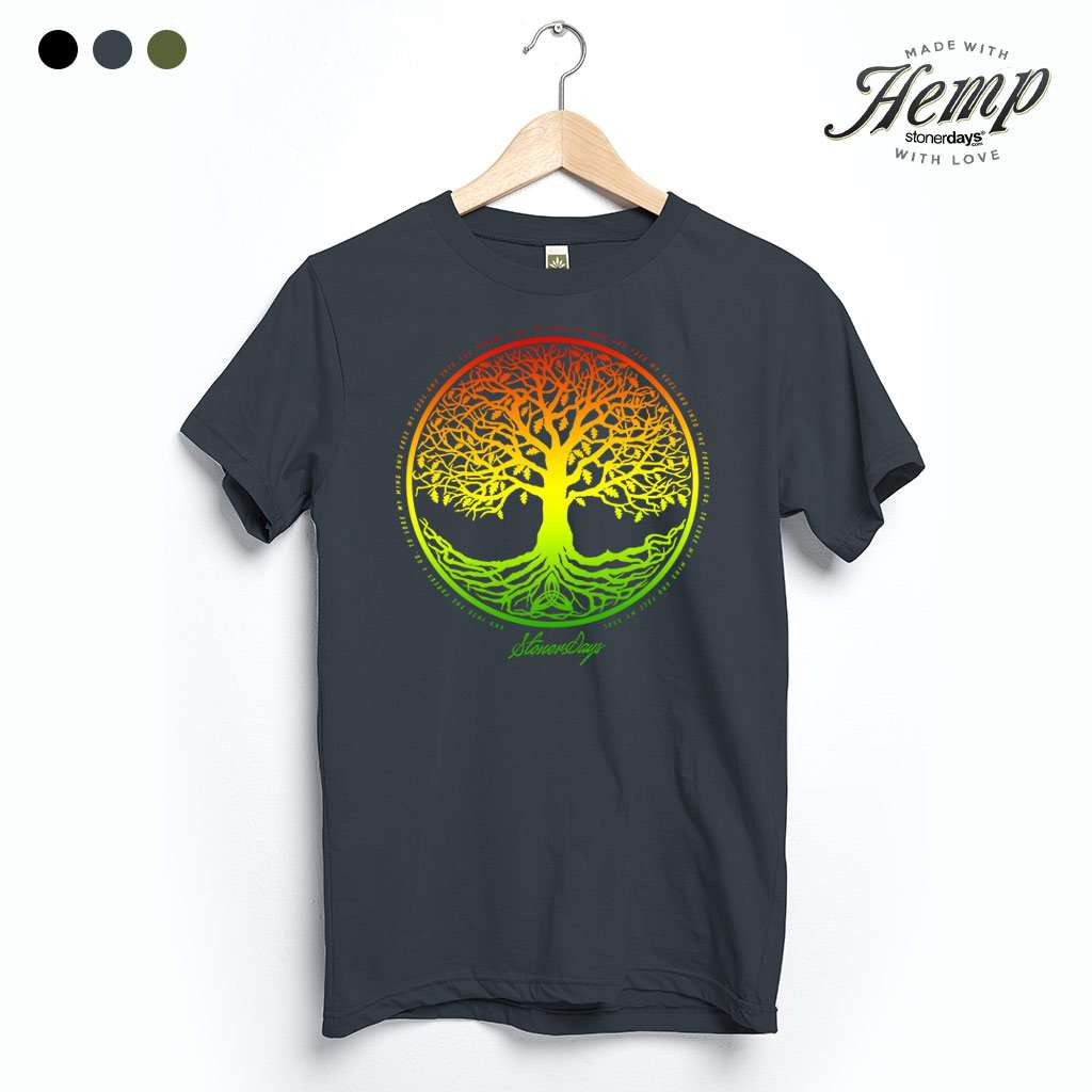 Rasta Tree Of Life Hemp Tee