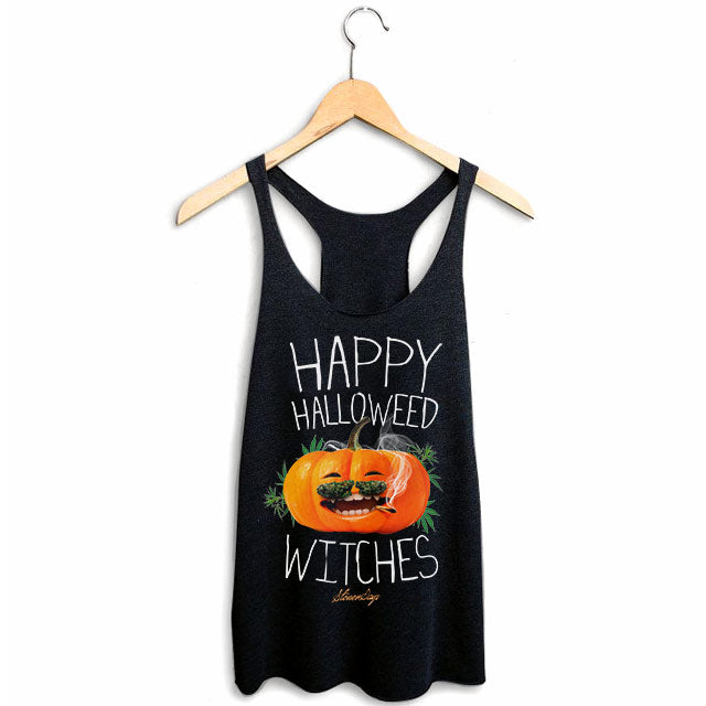 WOMENS HAPPY HALLOWEED TANK TOP