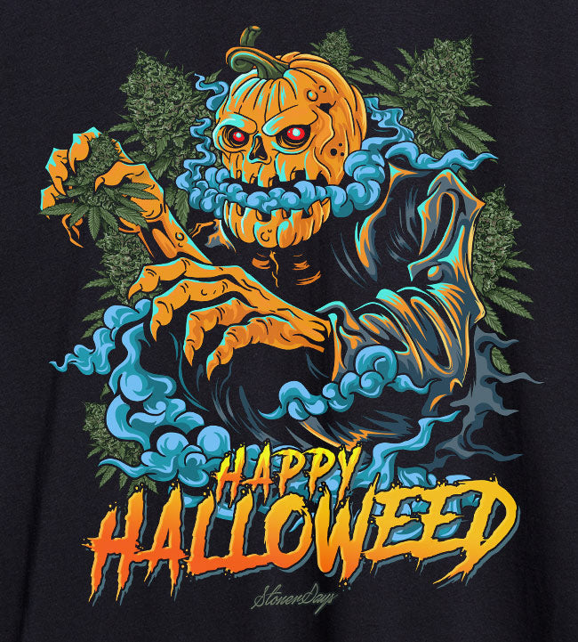 Happy Halloweed Rainbow Tie Dye Tee