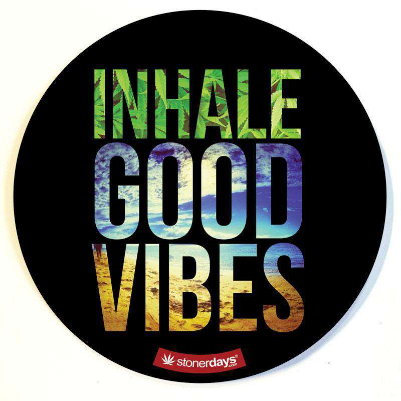 INHALE GOOD VIBES DAB PAD
