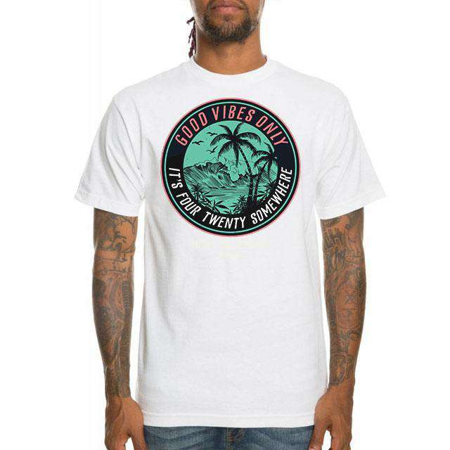 MEN'S IT'S 420 SOMEWHERE TEE WHITE