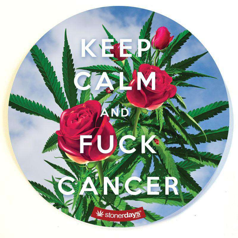 KEEP CALM AND FUCK CANCER DAB PAD