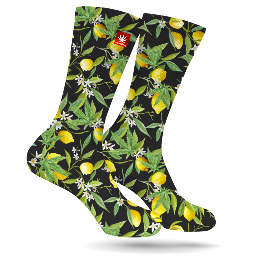 Lemon Kush Weed Socks