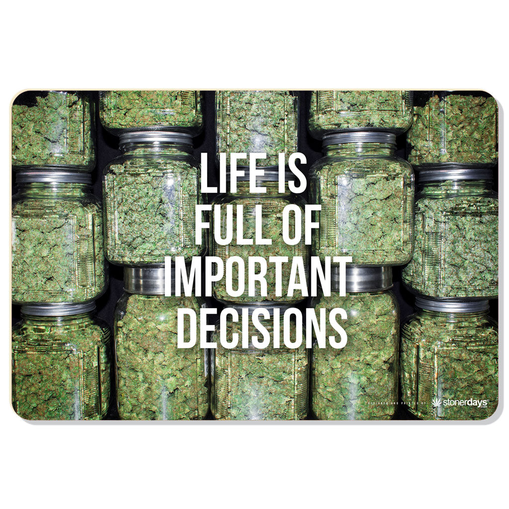 Life Is Full of Important Decisions Dab Mat