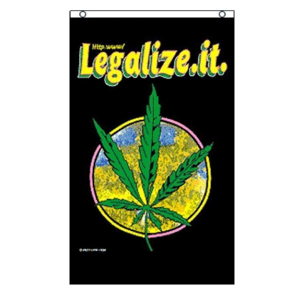 Legalize It Marijuana Leaf Flag 3x5 Feet