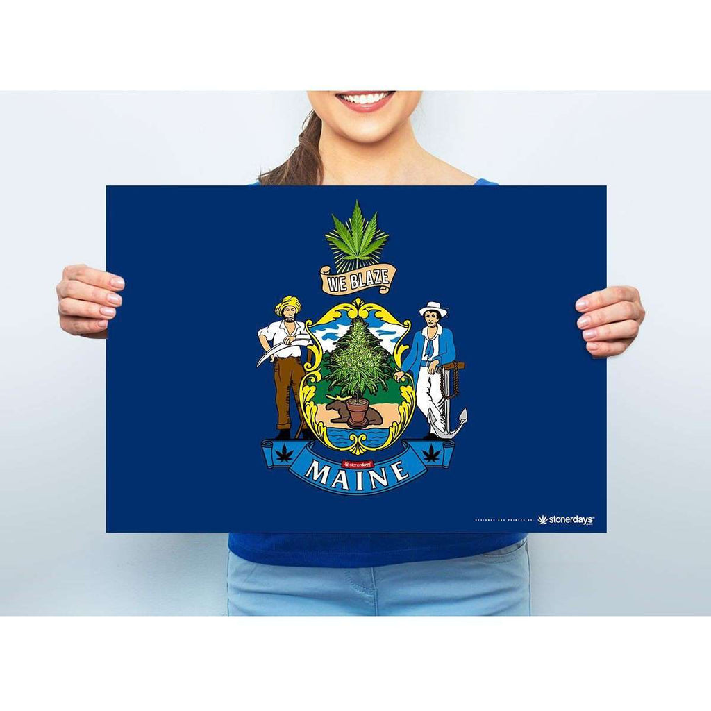 "MAINE 420 MARIJUANA POT POSTER 13"" x 19"""