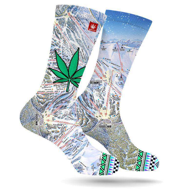 MAMMOTH MOUNTAIN WEED LEAF SOCKS