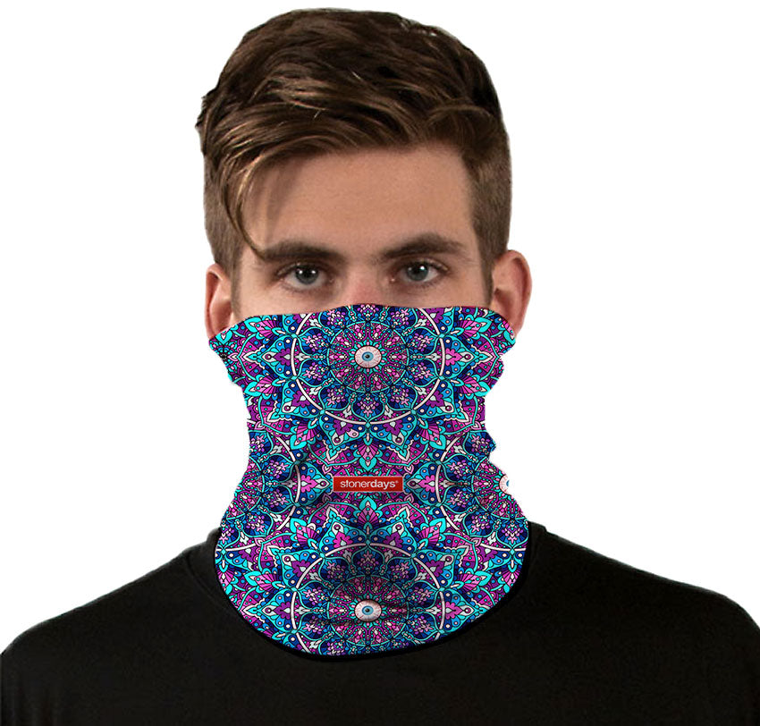 Mandala Eye Pattern Neck Gaiter